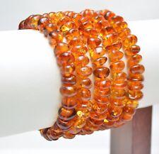 Lot 5  wholesale Baltic amber bracelet - baroque cognac adult 37.5 g TA-1971