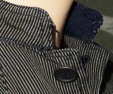 NEW John Varvatos Star USA Officer Jacket in Marine Size Small Ramie-Cotton