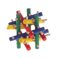 Pet Toys Colorful Wood Safety Knot Nibbler Chew Bite For Rabbit Animal Kid Adult