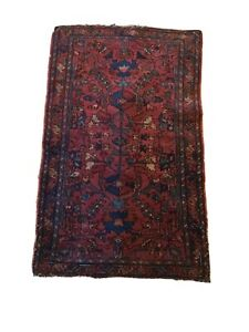 4' x 2 1/2' Very Old Antique Wool  Rug