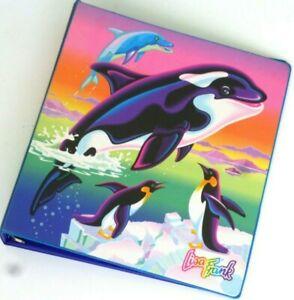 Vtg 90's Lisa Frank Max Splash 3-Ring Binder Killer Whale/Orca Seal Penguin EUC!