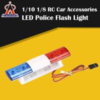 RC Car Flashing LED Police Light Bar for 1/10 1/8 HSP TAMIYA CC01 Axial D90 Car