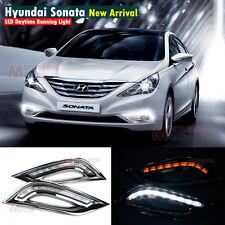 For Hyundai I45 YF Sonata Fog DRL W/ Turn Signal 2011+ LED Daytime Running Light