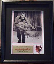 Eddie Cochran Preprinted Autograph & Guitar Pick Display Mounted & Framed
