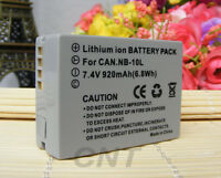 Battery NB-10L NB10L for CANON Powershot G1X G15 SX50 SX40 HS SX40HS SX50HS