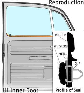1969-1977 VW Beetle Sedan Left Hand Door Window Scraper and Whiskers 324235