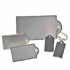 Bulk Package of 60 Assorted Size Brushed Silver Adhesive Tags Perfect