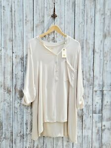 Nil. Stone Oversized V-Neck Tunic Blouse - L/XL - Was Selling At Anthropologie