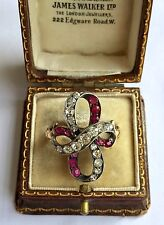 Ruby Twist Ring Circa 1800's A Fabulous Georgian 2ct Diamond &