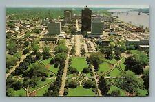 Baton Rouge Capitol Aerial Birdseye View Louisiana LA Postcard