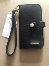 NWT WHBM Travel Black iPhone X Case With Pearl  Snap Strap $59