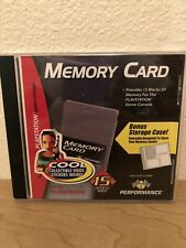 Playstation 1 PS1 Memory Card case holder and Collectible stickers