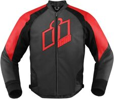 Icon Hypersport Leather Jacket Red XL