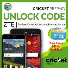 Unlock Code CRICKET ZTE Z832 Z755 Z983 Z813 Z815 Z987 Z956 Z959 Z988 Z740g