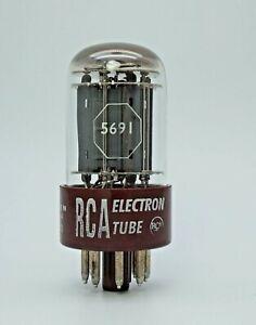 Rare RCA Red Base 5691 6SL7 Valve Tube New Old Stock (V50)