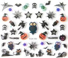 Nail art autocollants stickers ongles: Décorations Halloween Citrouilles Hiboux