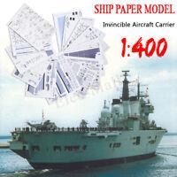1:400 Scale 3D DIY Paper Model  Battleship Ship Military Warship Art Toy