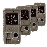 Cuddeback Dual Flash Invisible IR Scouting Game Trail Camera (4 Pack)