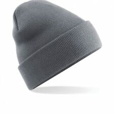 Unisex Graphite Grey Cuffed Soft Feel Wooly Hat - Winter, Autumn, Warm, Snowing