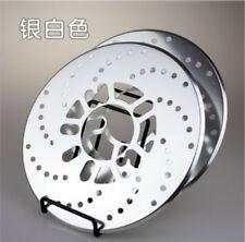 Vehicle Rim Aluminum  Brake Disc Pad Racing Cover Drum 2PC Silver Rotors