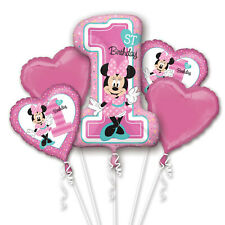 Minnie Mouse Large 1st Birthday Balloon Bouquet Age 1 Birthday Party Decoration