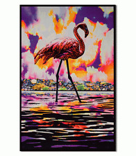 FLAMINGO - BLACKLIGHT POSTER - 23x35 FLOCKED TROPICAL 6505