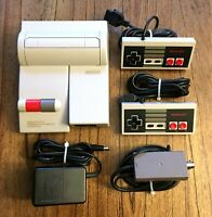 Nintendo NES-101 Top Loader Console Lot w/ 2 Controllers RF Power Cords Tested