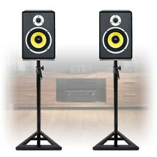 Pair of Active Powered DJ Studio Monitor Speakers with Stands 120 Watt