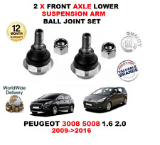FOR PEUGEOT 3008 5008 1.6 2.0 2009-2016 2 X FRONT AXLE LOWER ARM BALL JOINTS