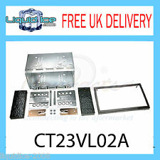 CT23VL02A VOLVO S80 UP TO 2013 BLACK DOUBLE DIN FASCIA FACIA ADAPTOR PANEL KIT