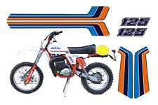 KTM GS 125 1981 cristal - adesivi/adhesives/stickers/decal