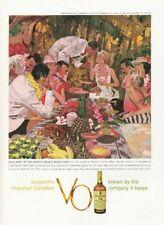 1959 Seagram's  Canadian Whisky V.O. Beach Party Waikiki Beach PRINT AD