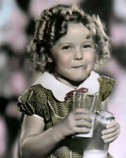"""SHIRLEY TEMPLE CHILD ACTRESS MOVIE STAR LOT OF 3 8x10"""" HAND COLOR TINTED PHOTOS"""