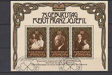 Liechtenstein SOUVENIR SHEET 1981. 75th Anniversaire de Prince Franz Josef II