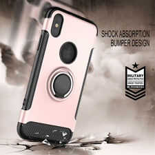 Luxury Shockproof Hybrid Stand Ring Magnet Case Cover for Apple iPhone X XS