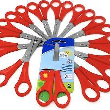 12 x rosso Westcott DESTRI per bambini forbici punta tonda - arrotondato FINALE