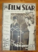 THE FILM STAR WEEKLY No 64 Vol 3 10TH FEB 1934 RONALD COLEMAN ELISSA LANDI COVER