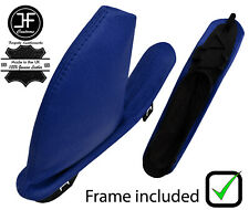 BLUE REAL LEATHER HANDBRAKE GAITER WITH PLASTIC FRAME FOR MG ZT ZT-T 1999-2005