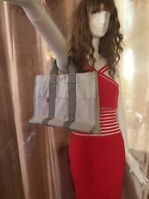HERMES Tote -Hand  Bag Canvas Gray