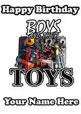 Chicos y sus juguetes fontanero herramientas códigos personalizados Cumpleaños Tarjeta De Felicitación