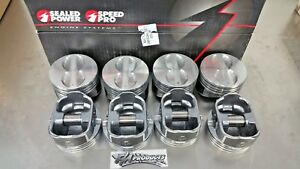 Speed Pro Small Block Chevy Flat Top Coated Pistons .030 Bore H345DCP30 350 Set