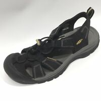 KEEN Women's Size 7.5 Waterproof Sandals Black Elastic Toggle