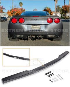 For 05-13 Corvette C6 ZR1 ABS Plastic Rear Trunk Lip Spoiler Wing Matte Black
