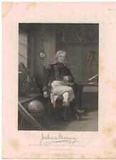 Joshua Barney 1862 Steel Engraving Print Commodore US Navy Revolutionary War