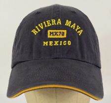Riviera Maya Mexico MX70 Navy Blue Baseball Hat Cap Adjustable