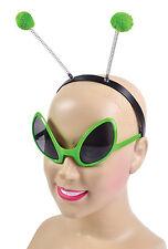 ALIEN Set (occhiali + Fascia per Capelli) Fancy Dress Up Kit UFO SPACE cattivi Costume
