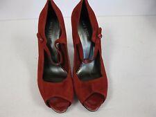 Nine West Luminous Peep Toe Mary Jane Red Size 10M