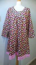 Boden Multicolour 100% Cotton Tunic Dress Size 18 etnic boho Festival
