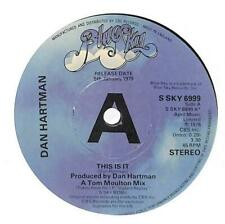 "Dan Hartman - This Is It - Promo - 7"" Vinyl Record Single"
