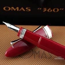 Omas 360 Hi-Tech Cranberry Red Resin Fountain Pen - Medium Nib